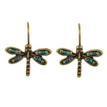 Dragonfly Eurowire Earrings | La Contessa Jewelry | LCER9214