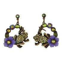 Frog Hoop Dangle Earrings | La Contessa Jewelry | LCER9217