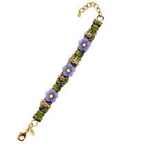 Frogs And Flowers Bracelet | La Contessa Jewelry | LCBR9211