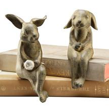 Bunny Shelf Sitters Sculptures | 33517 | SPI Home