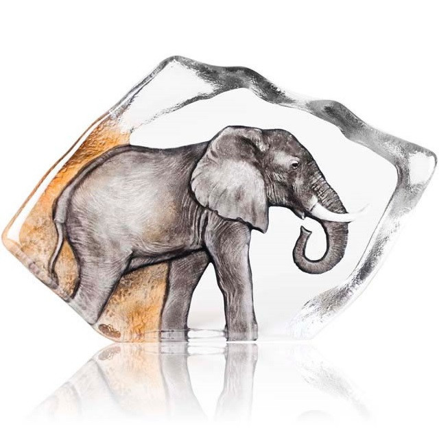 Elephant color crystal relief sculpture  mats