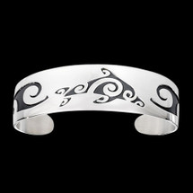 Dolphin Tribal Sterling Silver Bracelet | Metal Arts Group Jewelry | MAG17007-S