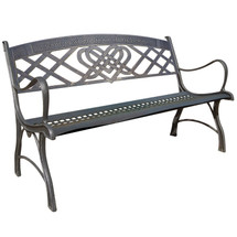 Celtic Cast Iron Garden Bench | Painted Sky