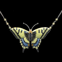 Swallowtail Butterfly Cloisonne Necklace | Bamboo Jewelry | BJ0004LN