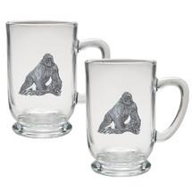 Gorilla Coffee Mug Set of 2 | Heritage Pewter | HPICM3998CL