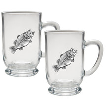 Bass Coffee Mug Set of 2 | Heritage Pewter | HPICM4033CL