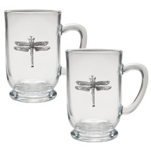 Dragonfly Coffee Mug Set of 2 | Heritage Pewter | HPICM4080CL