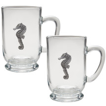 Seahorse Coffee Mug Set of 2 | Heritage Pewter | HPICM3400CL
