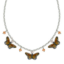 Monarch 3 Piece Cloisonne Crystal Necklace | Bamboo Jewelry | BJ0004-nck -2