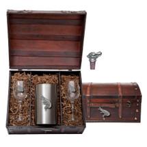 Alligator Wine Chest Set | Heritage Pewter | HPIWSC3770
