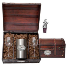 Dolphin Wine Chest Set | Heritage Pewter | HPIWSC135
