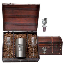Rooster Wine Chest Set