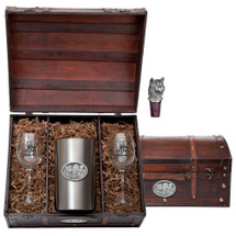 Wolf Wine Chest Set | Heritage Pewter | HPIWSC102