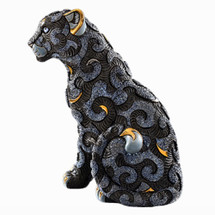 Black Panther with Arabesques Ceramic Figurine | De Rosa | Rinconada | DER461