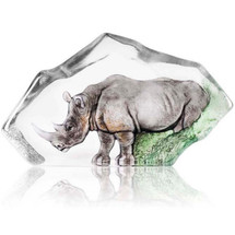 Rhino Crystal Sculpture LTD ED | 34115 | Mats Jonasson Maleras