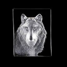 Wolf Crystal Sculpture   34124   Mats Jonasson Maleras
