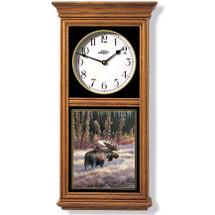Moose Oak Wood Regulator Wall Clock | Wild Wings | 5982662568
