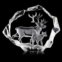 Reindeer Ltd Ed Crystal Sculpture | 34151 | Mats Jonasson Maleras