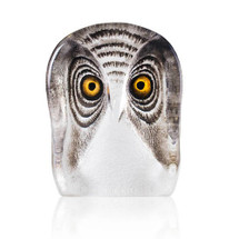 Owl Painted Crystal Sculpture | 34104 | Mats Jonasson Maleras