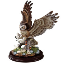 Great Horned Owl Porcelain Sculpture | Sadek  - CLEARANCE