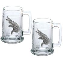 Alligator Stein Set of 2 | Heritage Pewter | ST3770