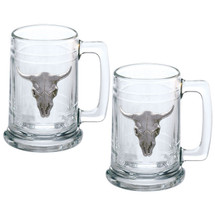 Longhorn Stein Set of 2 | Heritage Pewter | ST3270