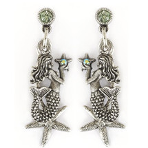 Mermaid Starfish Earrings | La Contessa Jewelry | Mary DeMarco | ER9342