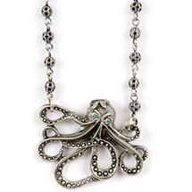Octopus Pendant Necklace | La Contessa Jewelry | Mary DeMarco | NK9341