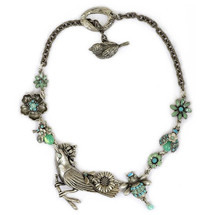 Bird and Bee Necklace | La Contessa Jewelry | Mary DeMarco | NK9304TQ