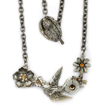 Hummingbird Necklace | La Contessa Jewelry | Mary DeMarco | LCNK9303LC