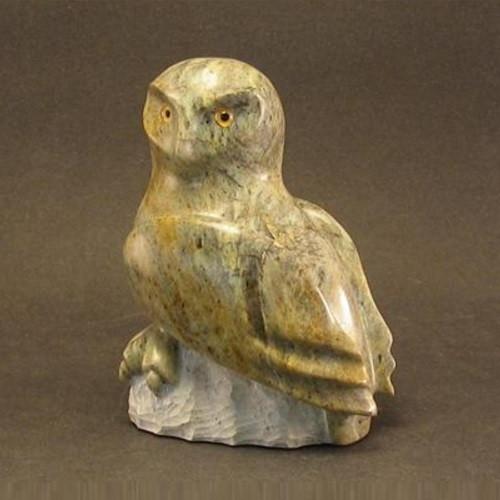 Snowy Owl Sculpture Stone Douglas Creek