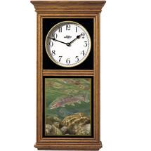 Rainbow Trout Oak Wood Regulator Wall Clock | Wild Wings | 5982662650