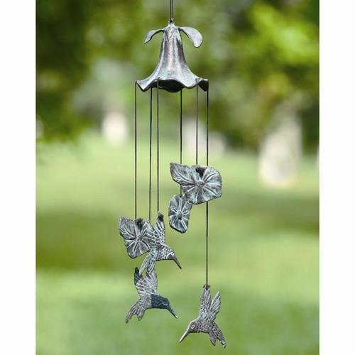 Morning Glory & Hummingbird Wind Chime | 33078 | SPI Home