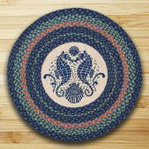 Seahorse Round Braided Rug | Capitol Earth Rugs | RP-453