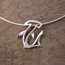 Hammerhead Shark Pendant Necklace   Big Blue Jewelry   BC21-18