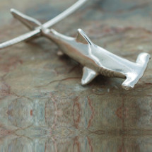 Shark Pendant Necklace   Big Blue Jewelry   Roland St. John   BC06-18