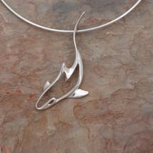 Reef Shark Pendant Necklace   Big Blue Jewelry   Roland St. John   SKSS-18