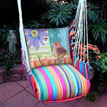 Bird and Daisy Hammock Chair Swing | Magnolia Casual | LJRRPDB-SP -2