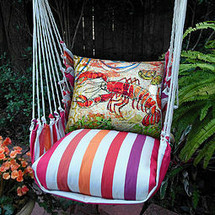Lobster Striped Hammock Chair Swing | Magnolia Casual | CRFCLB-SP -2