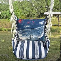 Whale Nautical Hammock Chair Swing | Magnolia Casual | MATC611-SP -2