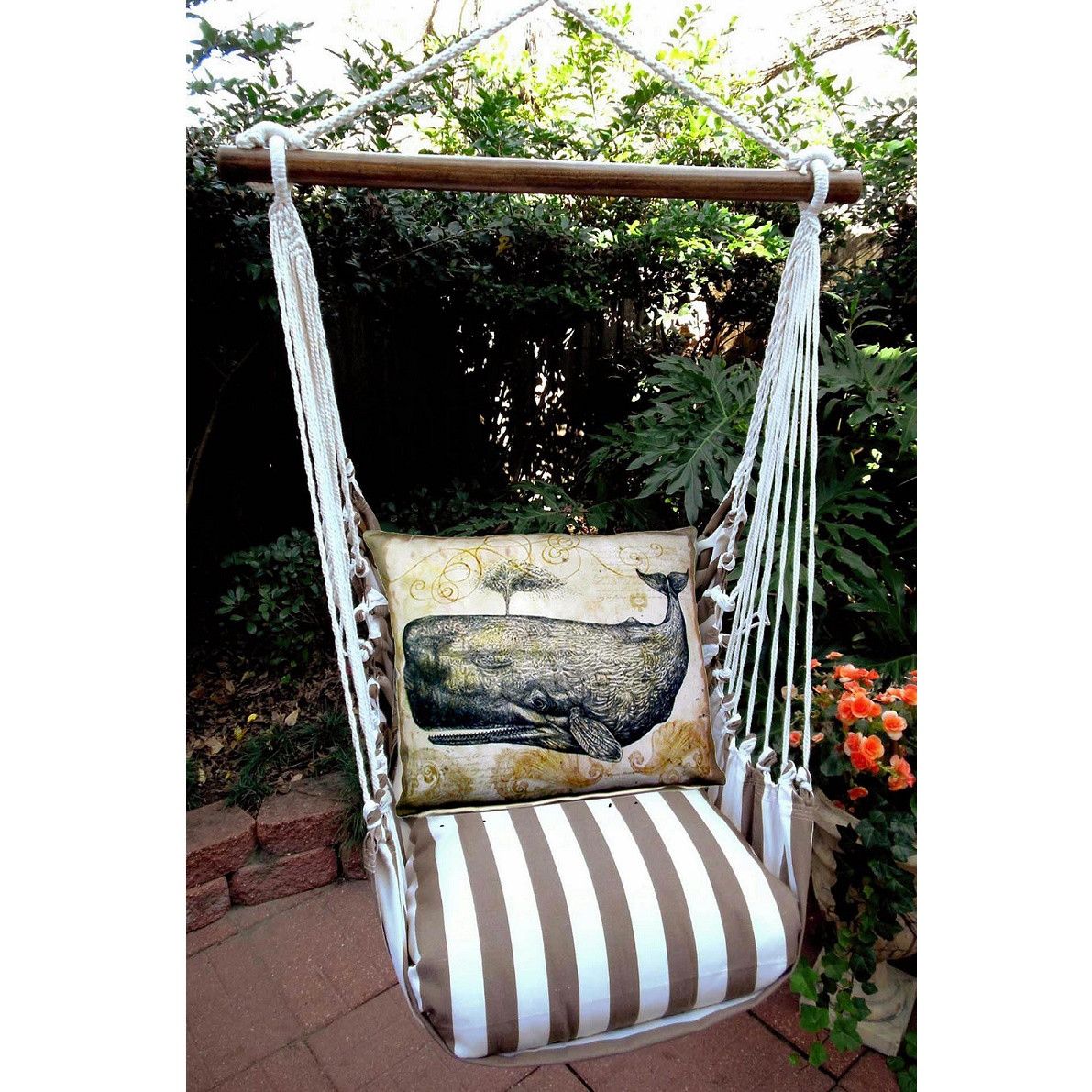 how to arrange a small bedroom whale striped nautical hammock chair swing magnolia casual 20556