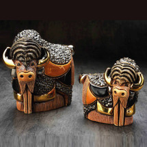 Bison and Baby Ceramic Figurine Set | De Rosa | Rinconada