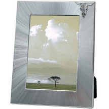 Longhorn Cattle 5x7 Photo Frame | Heritage Pewter | HPIFR3002LG