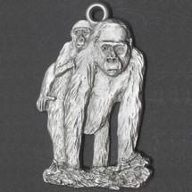 Gorilla and Baby Pewter Ornament | Andy Schumann | SCHMC122153