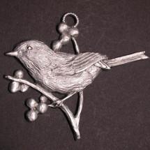 Chickadee Pewter Ornament   Andy Schumann   SCHMC122156