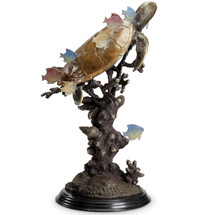 "Sea Turtle Sculpture ""Ocean Voyagers"" | 80307 | SPI Home"