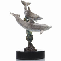Double Dolphins Sculpture | 80084 | SPI Home