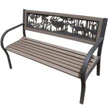 Elk 2-Tone Tube Steel Outdoor Bench | Painted Sky | TSB2-EK