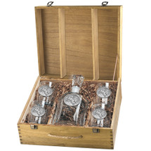 Bullrider Capitol Decanter Boxed Set | Heritage Pewter | HPICPTB4246