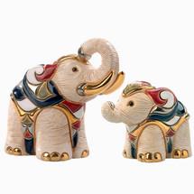 White Elephant and Baby Ceramic Figurine Set | De Rosa | Rinconada